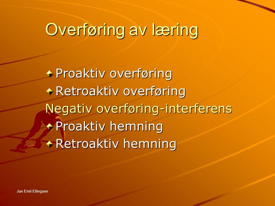 Overføring av læring Proaktiv overføring Retroaktiv overføring