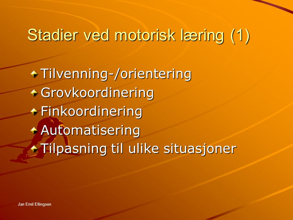 Stadier ved motorisk læring (1)