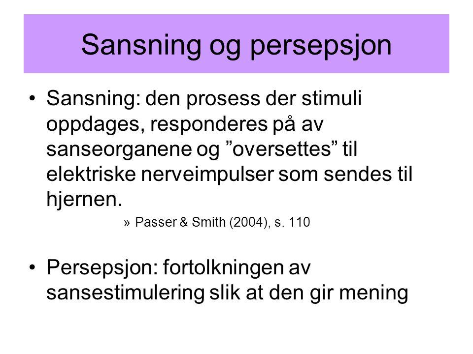 Sansning og persepsjon