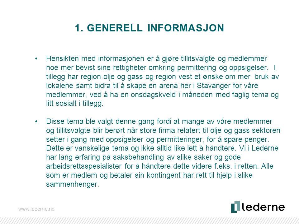 1. GENERELL INFORMASJON