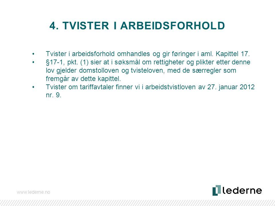 4. Tvister i arbeidsforhold