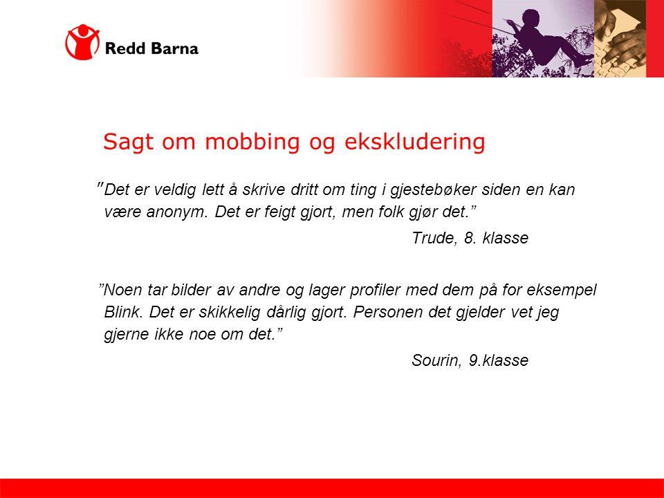 Sagt om mobbing og ekskludering