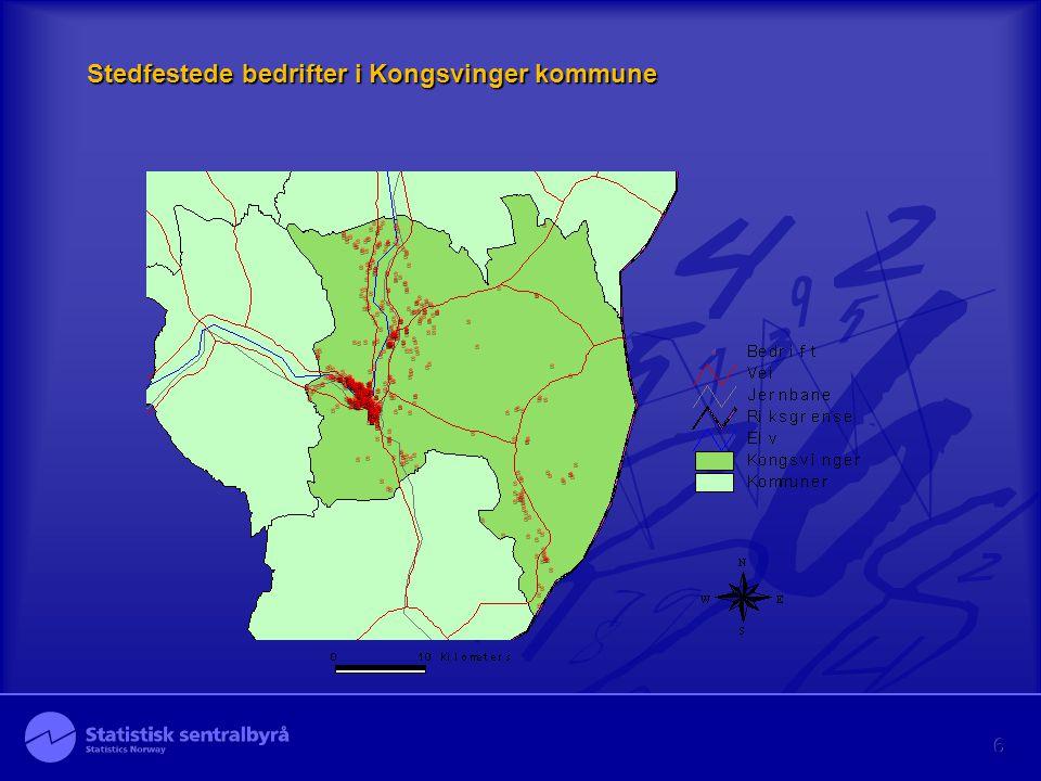 Stedfestede bedrifter i Kongsvinger kommune