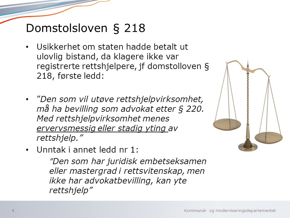 Domstolsloven § 218