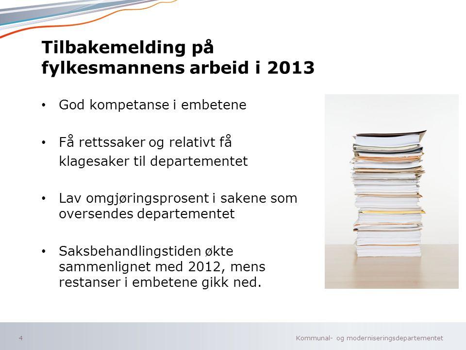 Tilbakemelding på fylkesmannens arbeid i 2013