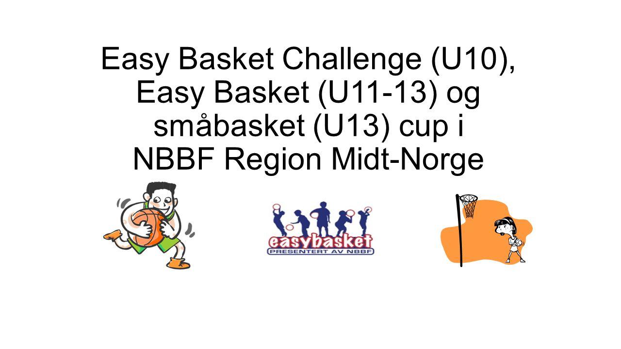 Easy Basket Challenge (U10), Easy Basket (U11-13) og småbasket (U13) cup i NBBF Region Midt-Norge