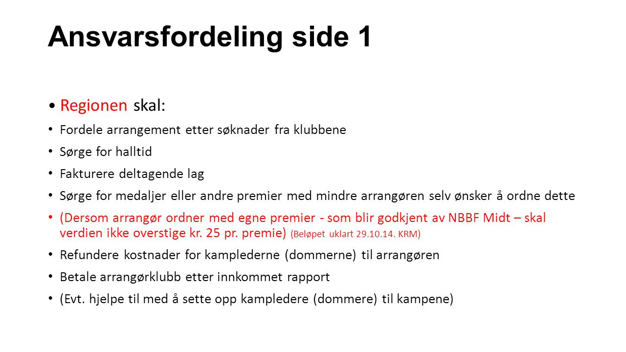 Ansvarsfordeling side 1