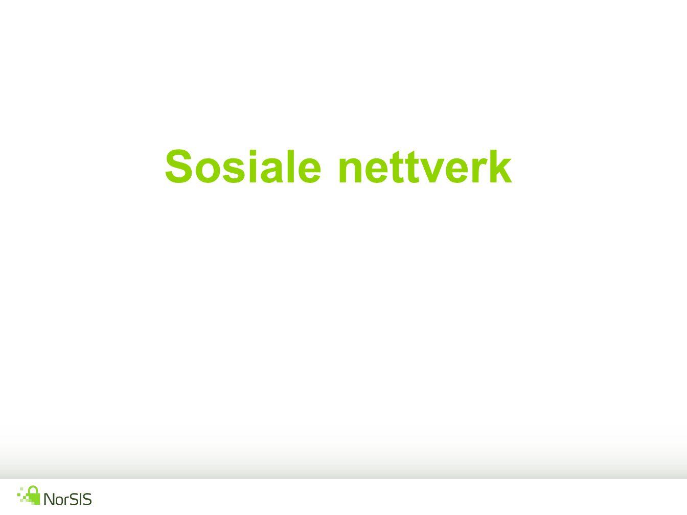 Sosiale nettverk