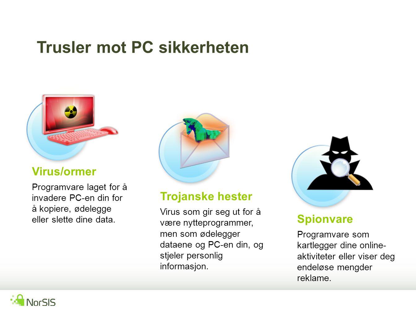 Trusler mot PC sikkerheten