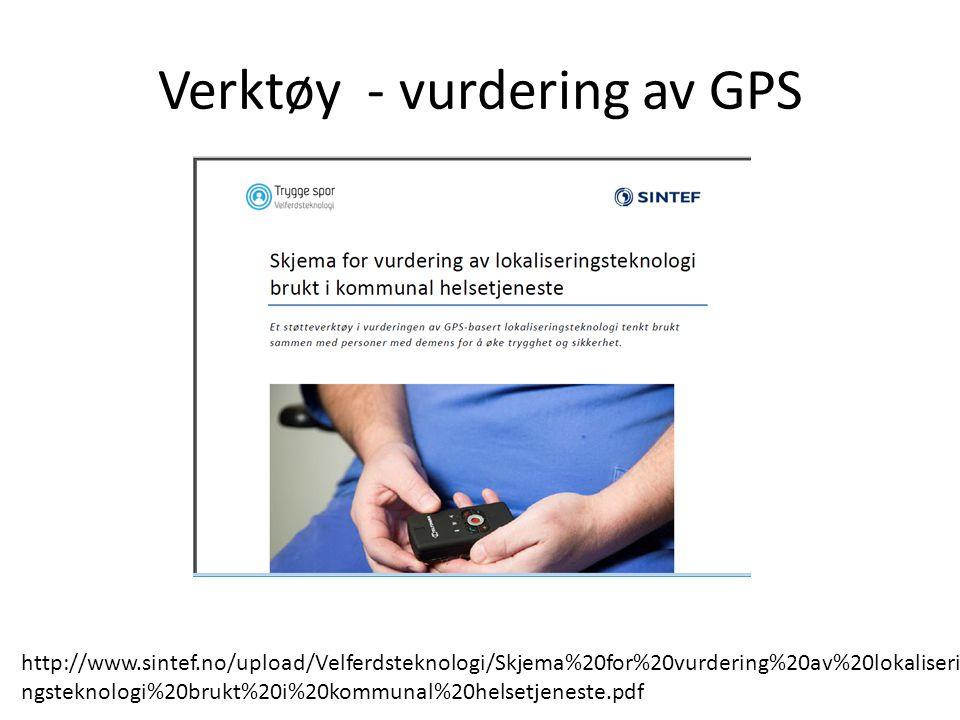 Verktøy - vurdering av GPS