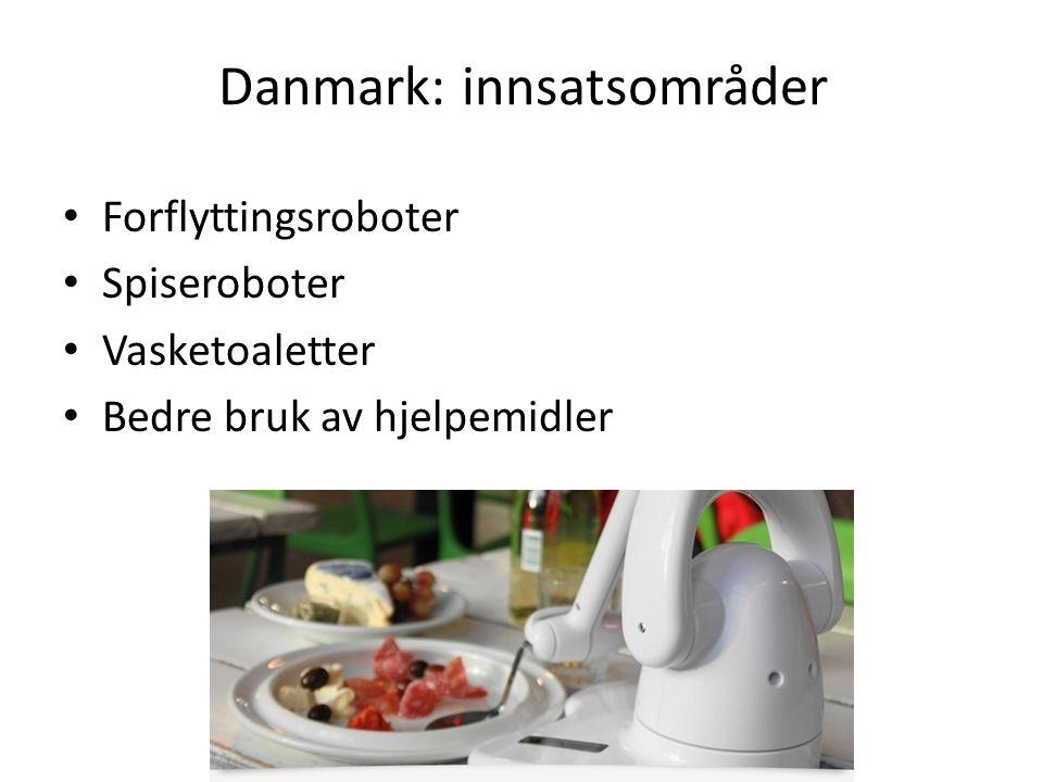 Danmark: innsatsområder