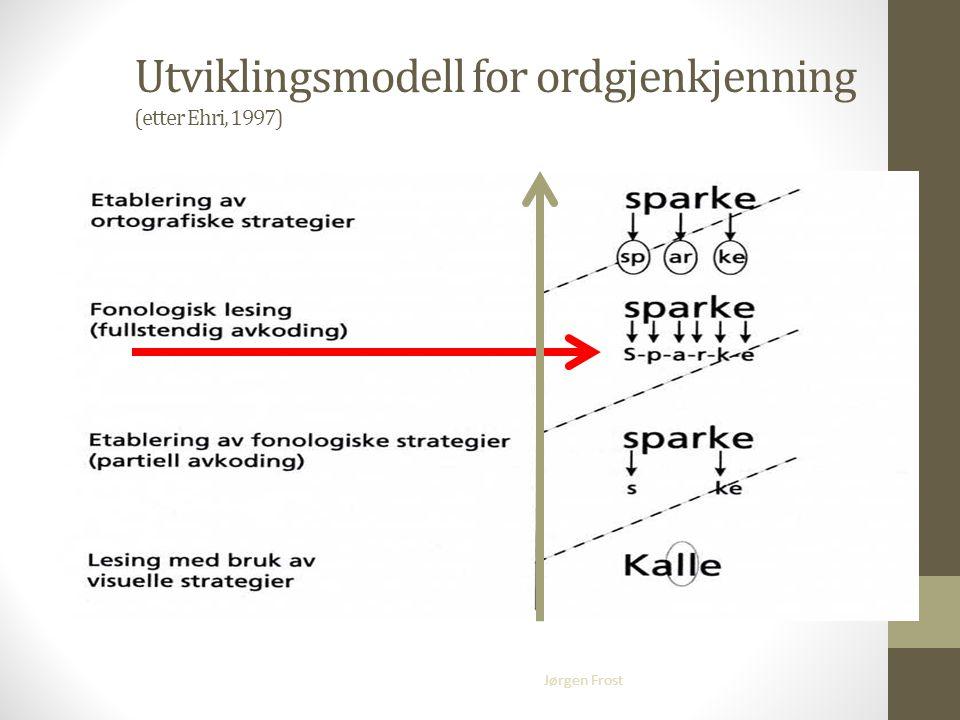 Utviklingsmodell for ordgjenkjenning (etter Ehri, 1997)