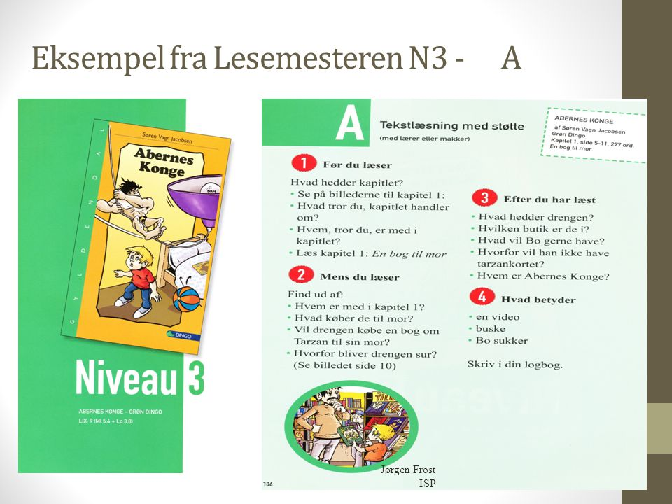 Eksempel fra Lesemesteren N3 - A
