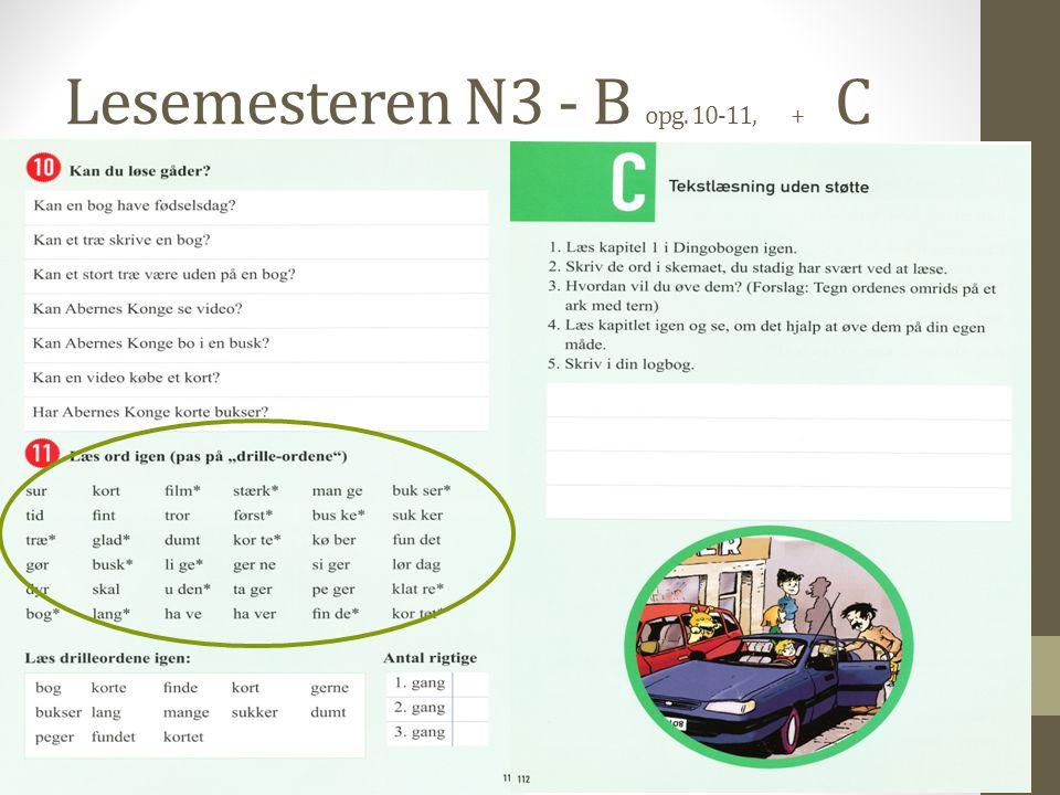 Lesemesteren N3 - B opg. 10-11, + C
