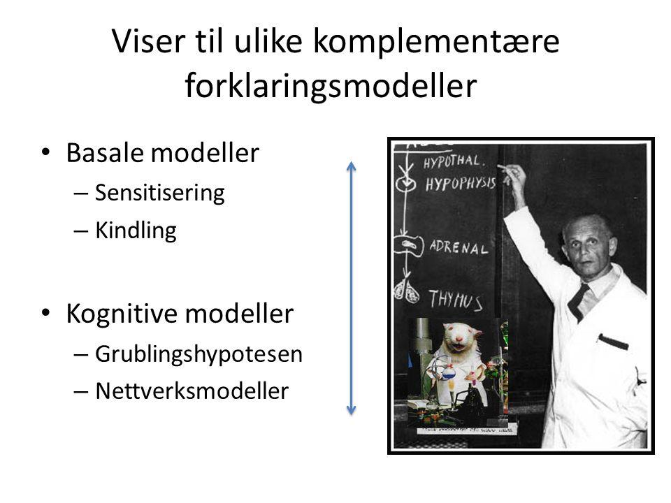 Viser til ulike komplementære forklaringsmodeller