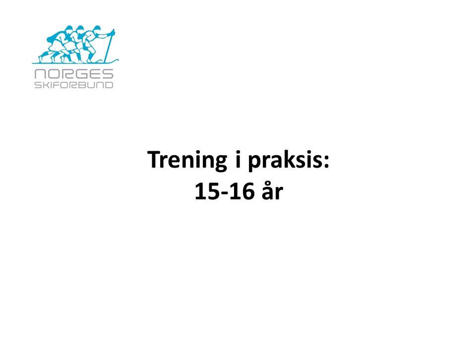 Trening i praksis: 15-16 år