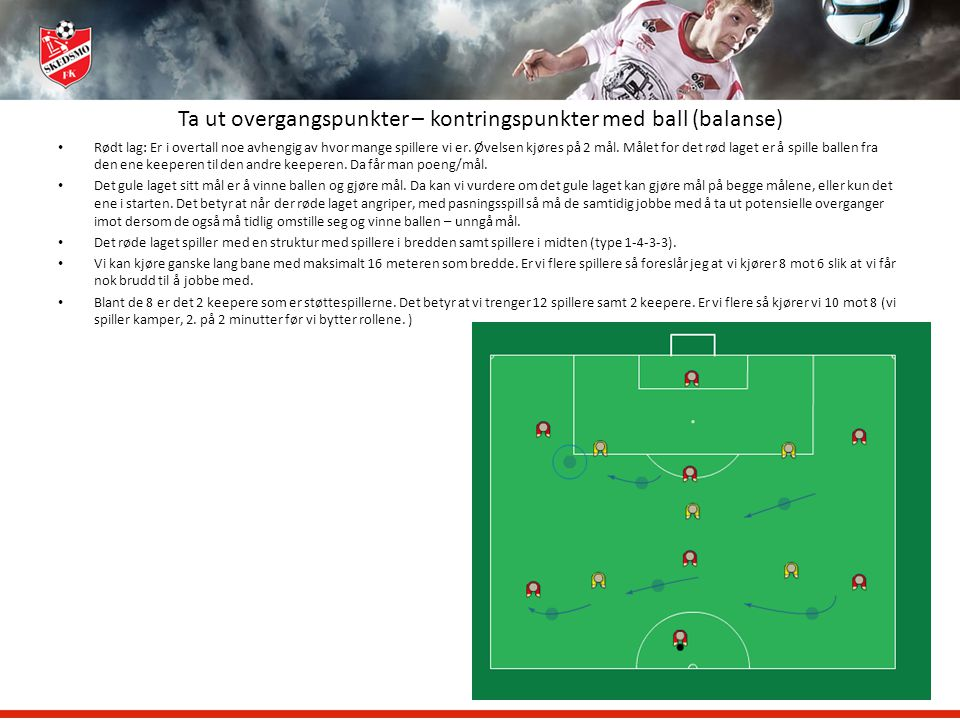 Ta ut overgangspunkter – kontringspunkter med ball (balanse)