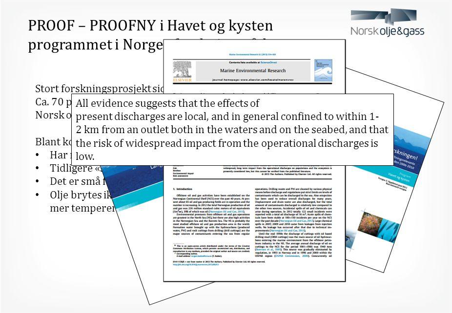 PROOF – PROOFNY i Havet og kysten programmet i Norges forskningsråd