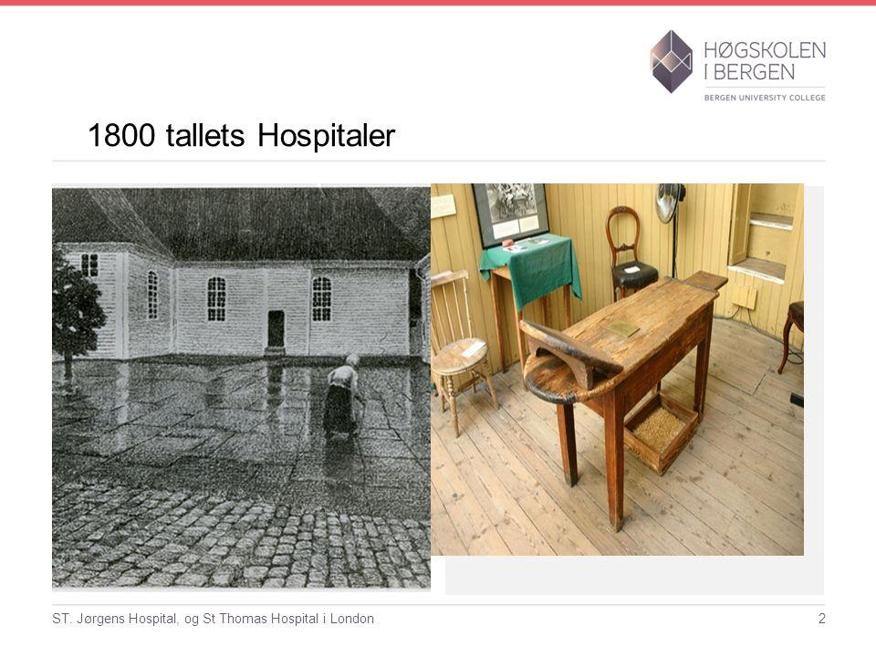 1800 tallets Hospitaler