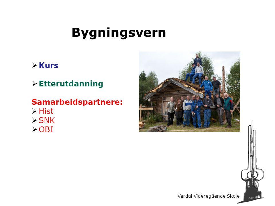 Bygningsvern Kurs Etterutdanning Samarbeidspartnere: Hist SNK OBI