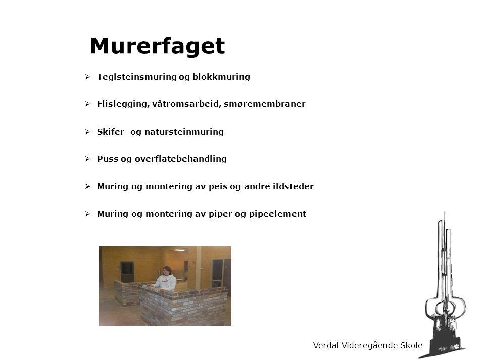 Murerfaget Teglsteinsmuring og blokkmuring