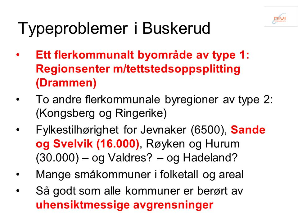 Typeproblemer i Buskerud