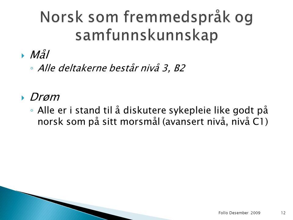 Norsk som fremmedspråk og samfunnskunnskap