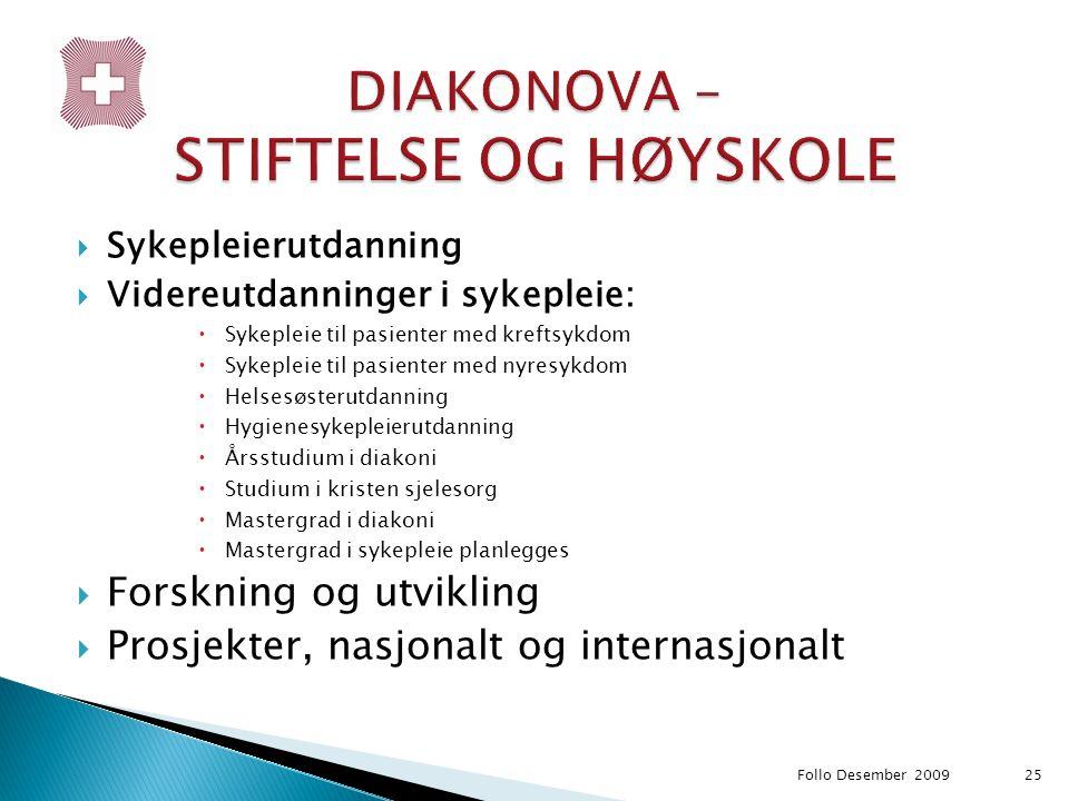 DIAKONOVA – STIFTELSE OG HØYSKOLE