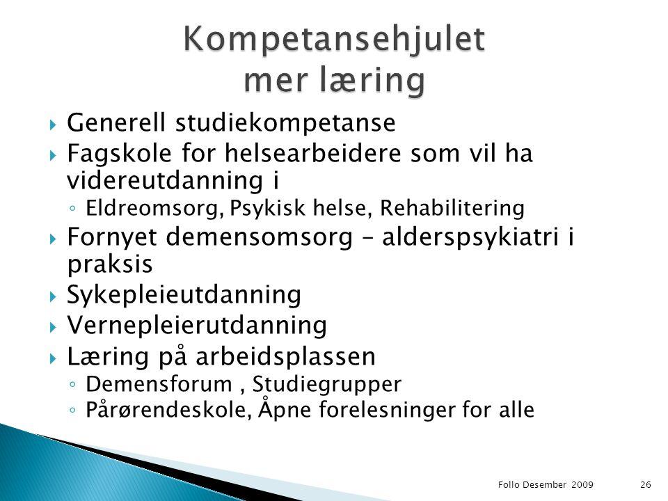 Kompetansehjulet mer læring