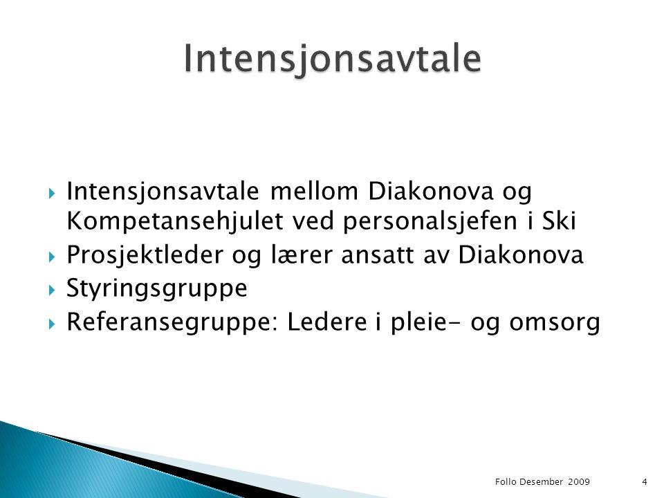 Intensjonsavtale Intensjonsavtale mellom Diakonova og Kompetansehjulet ved personalsjefen i Ski. Prosjektleder og lærer ansatt av Diakonova.