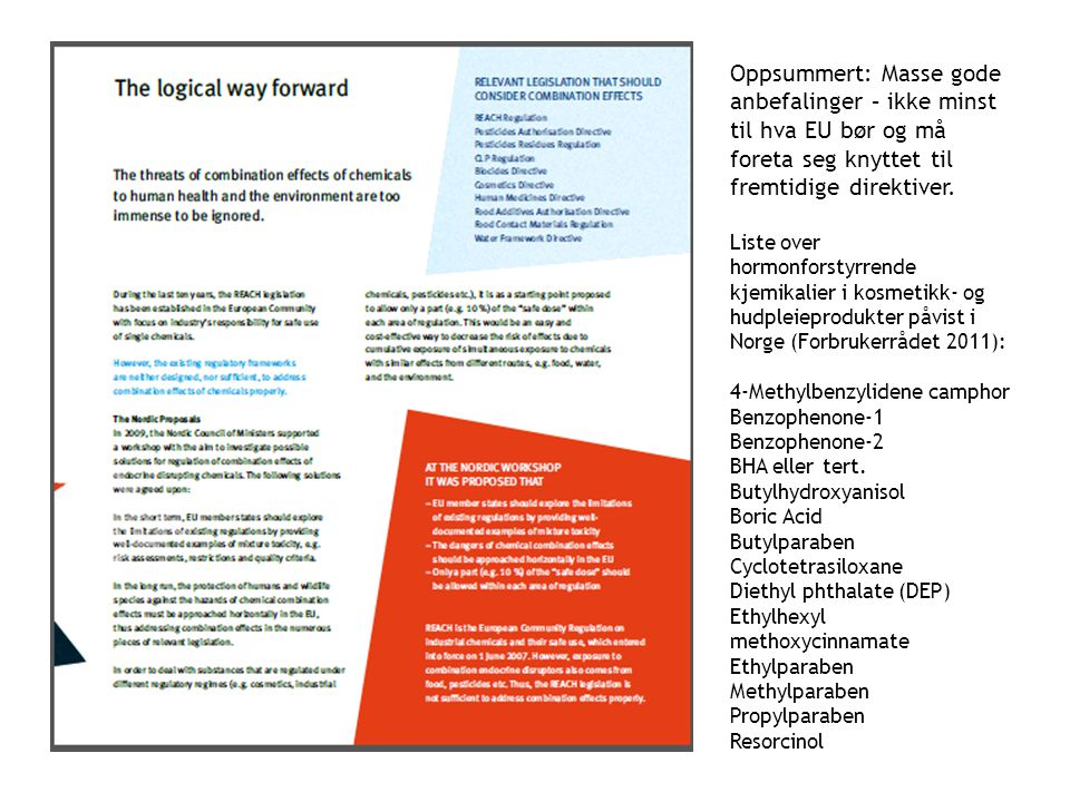 Oppsummert: Masse gode anbefalinger – ikke minst til hva EU bør og må foreta seg knyttet til fremtidige direktiver.