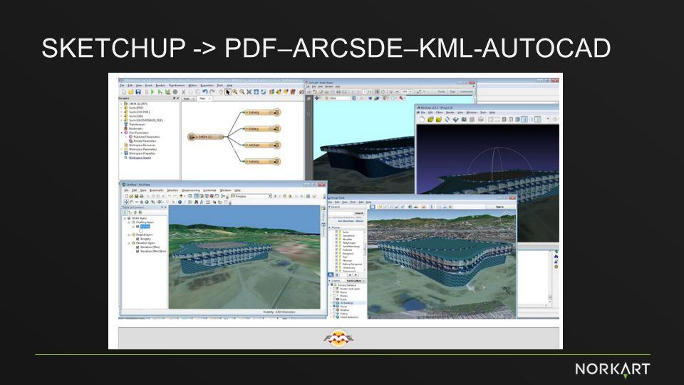 Sketchup -> PDF–Arcsde–KML-Autocad