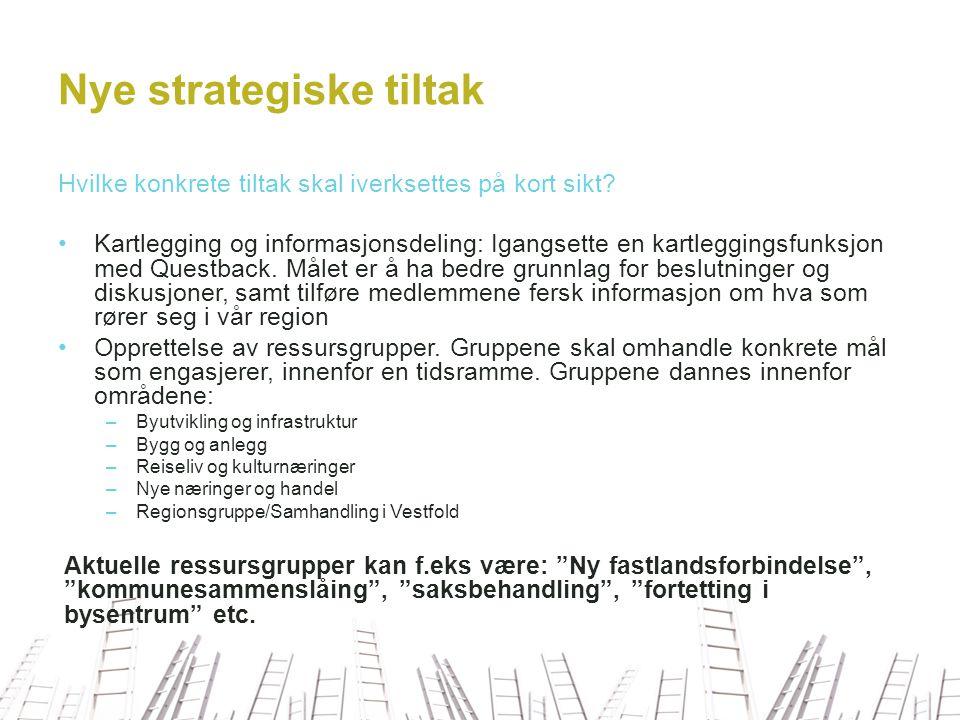 Nye strategiske tiltak