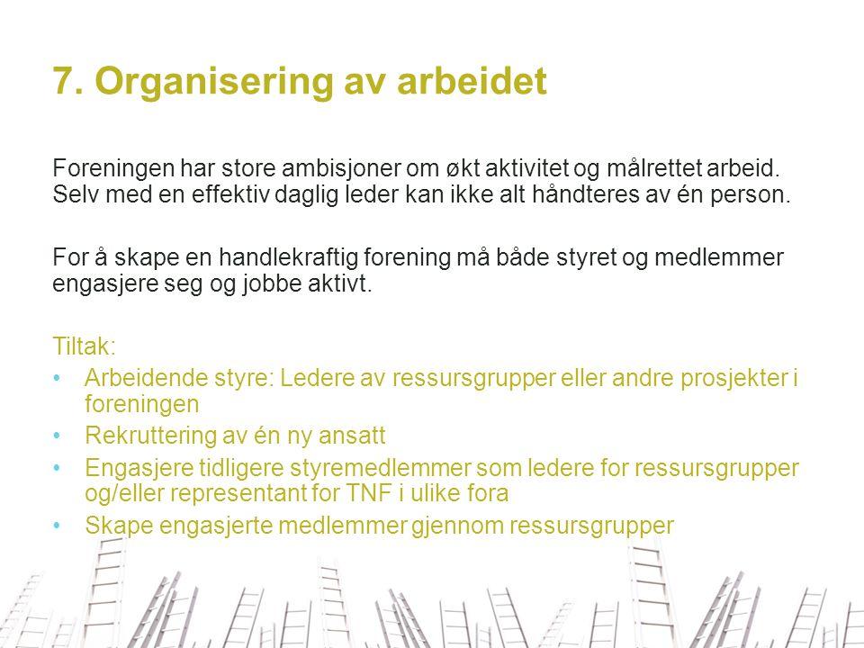 7. Organisering av arbeidet