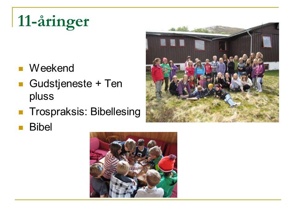 11-åringer Weekend Gudstjeneste + Ten pluss Trospraksis: Bibellesing