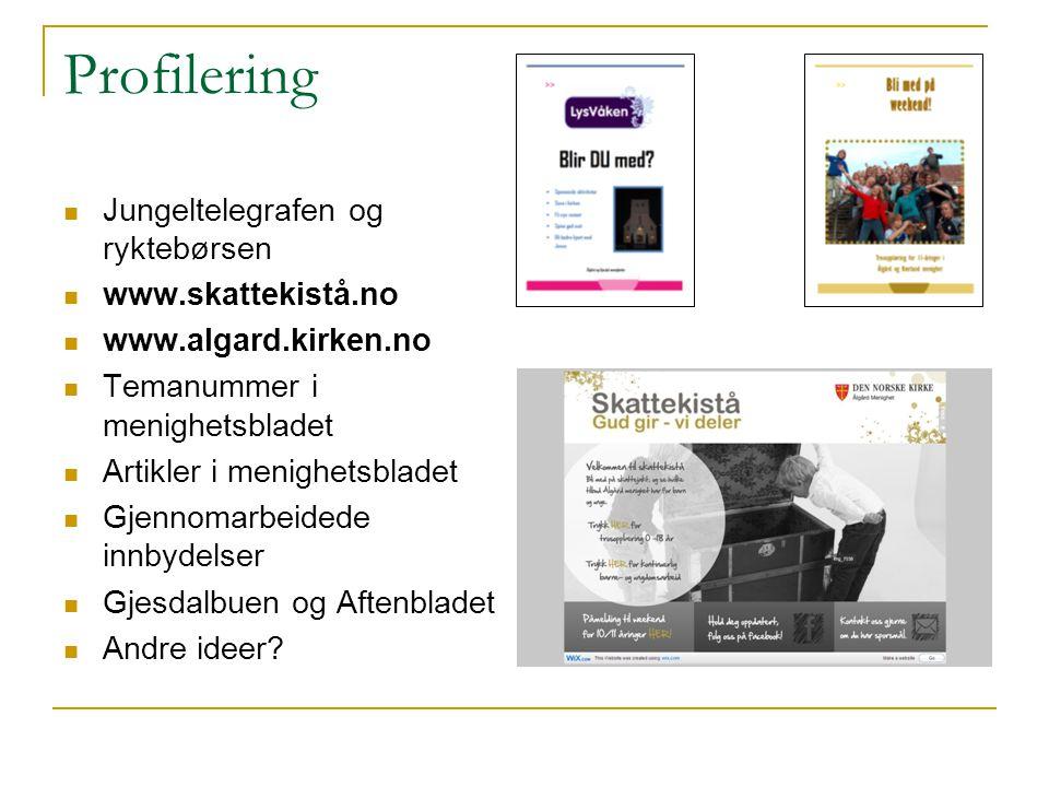 Profilering Jungeltelegrafen og ryktebørsen www.skattekistå.no