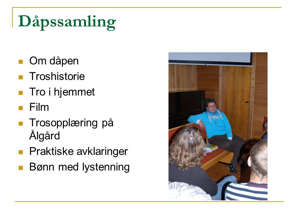 Dåpssamling Om dåpen Troshistorie Tro i hjemmet Film