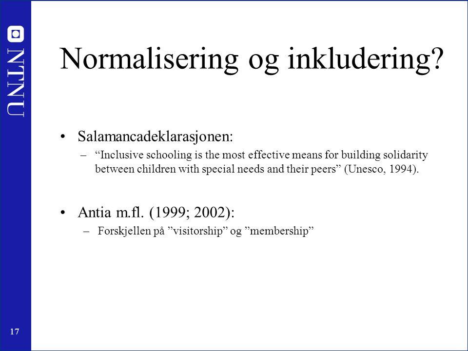Normalisering og inkludering