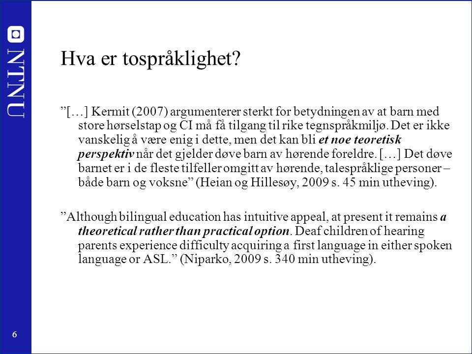 Hva er tospråklighet