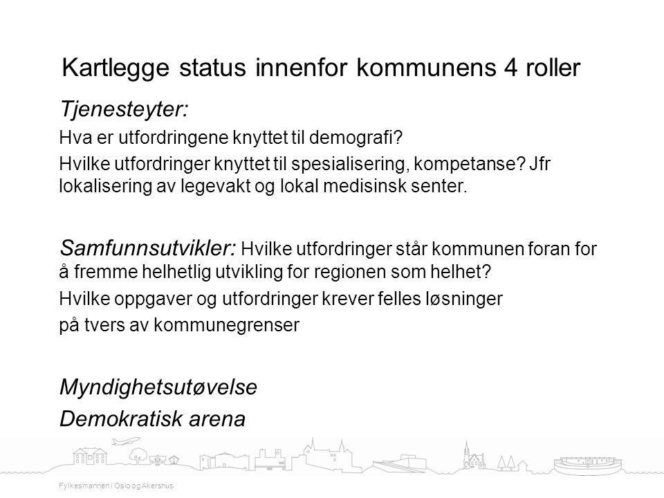 Kartlegge status innenfor kommunens 4 roller
