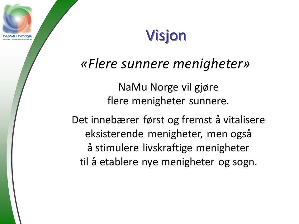 Visjon «Flere sunnere menigheter» NaMu Norge vil gjøre