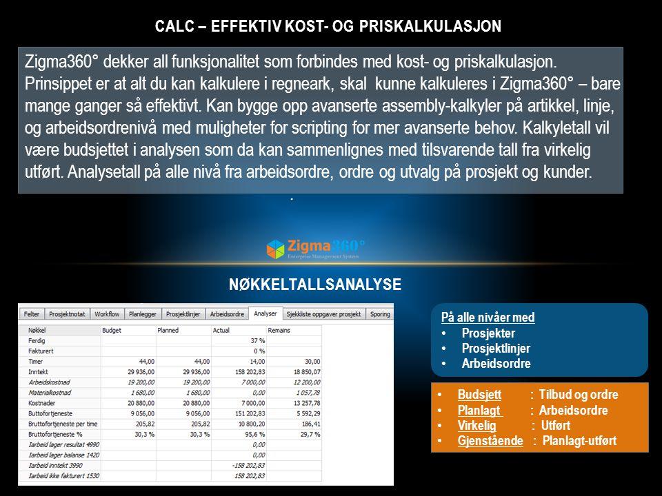 CALC – Effektiv kost- og priskalkulasjon