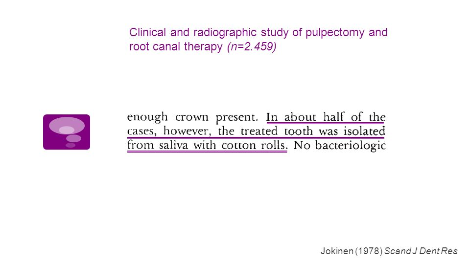 Clinical and radiographic study of pulpectomy and root canal therapy (n=2.459)