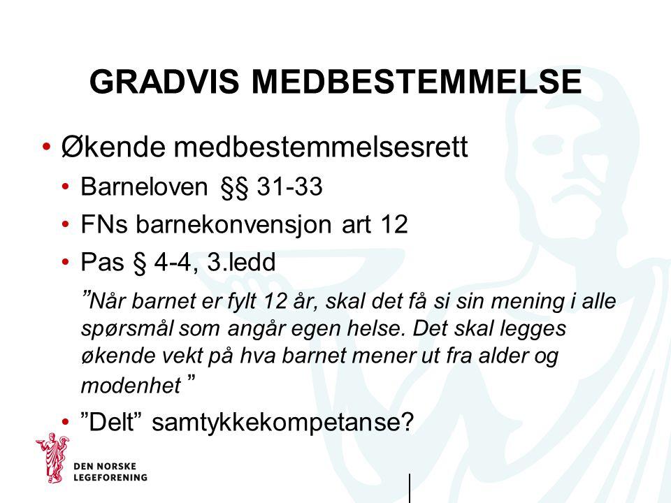 GRADVIS MEDBESTEMMELSE
