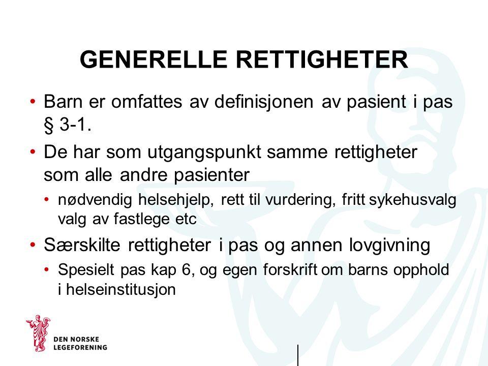 GENERELLE RETTIGHETER