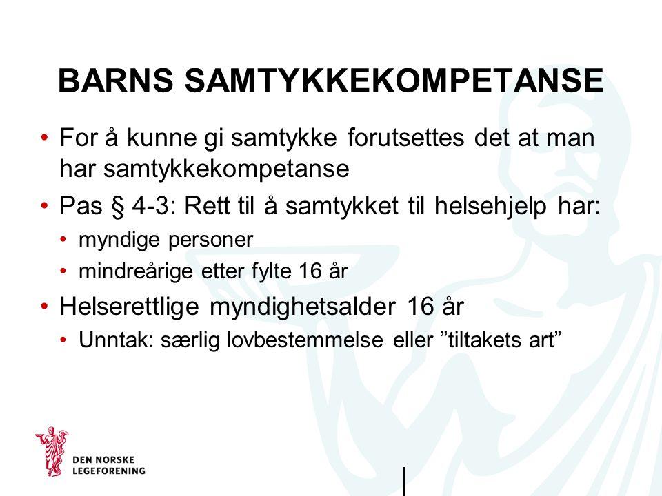 BARNS SAMTYKKEKOMPETANSE