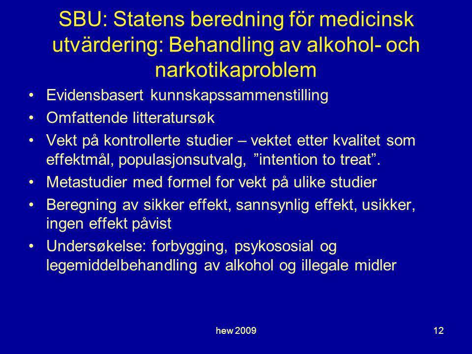 SBU: Statens beredning för medicinsk utvärdering: Behandling av alkohol- och narkotikaproblem