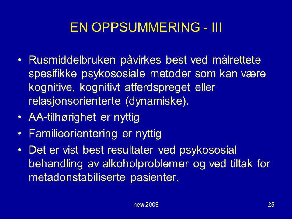 EN OPPSUMMERING - III