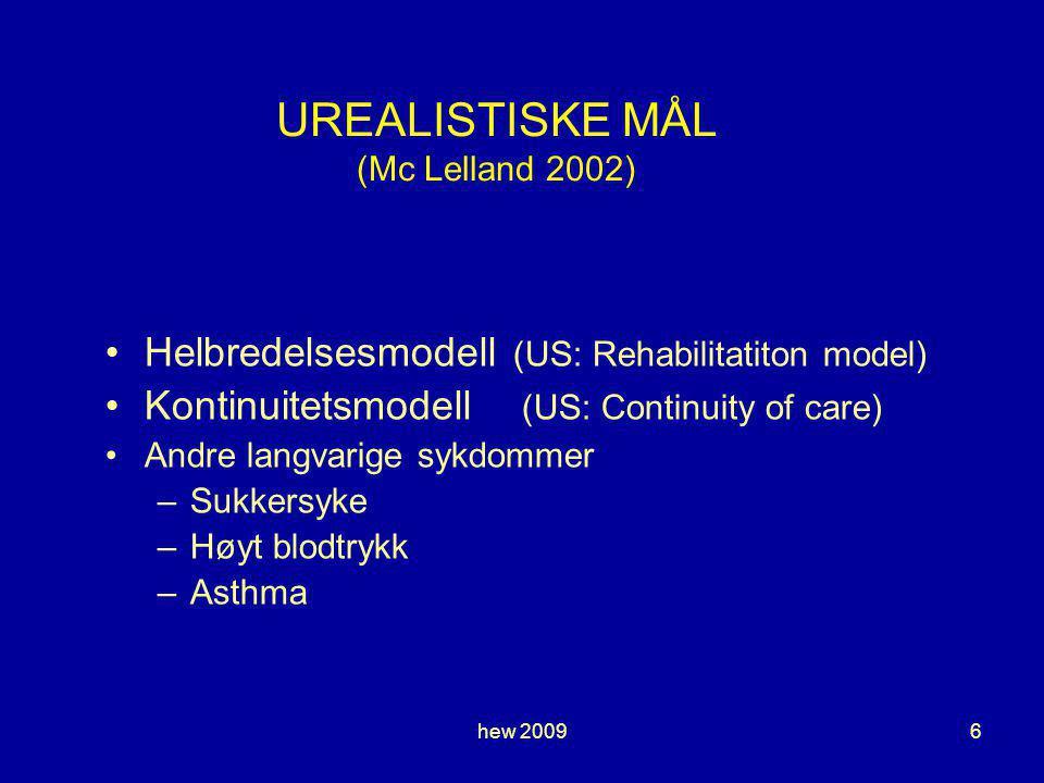 UREALISTISKE MÅL (Mc Lelland 2002)