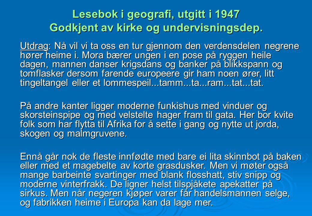 Lesebok i geografi, utgitt i 1947